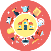 تنظيف المنازل , خدمات منزلية